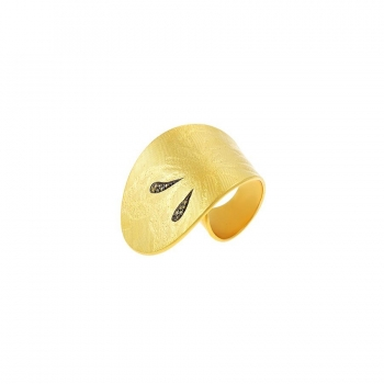 """CATHY RING"" gold"