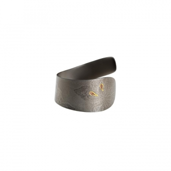 "Silver Cuff ""DESTINY"" With Diamonds"